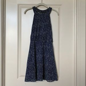 Dresses & Skirts - Patterned Blue Dress with Strappy Back